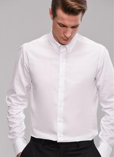 People By Fabrika Düğmeli Yaka Gömlek Beyaz